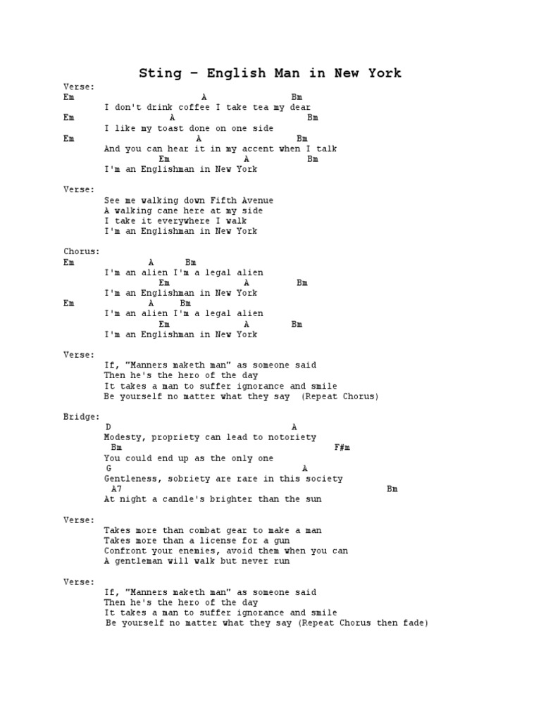 Acoustic Songs With Guitar Chords Song Structure Desert