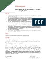 Recio vs Heirs of Sps Aguedo and Maria Altamarino - Ipil