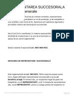Daniela Negrila_ REPREZENTAREA SUCCESORALA - Notiuni Generale