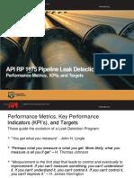 API RP 1175 Metrics KPIs and Targets