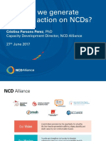Webinar presentation of Cristina Parsons Perez of NCD Alliance