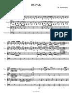 Moussorgsky M. - HOPAK - Quartet - Parts Score