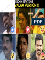 Facebook Reactions in Malayalam