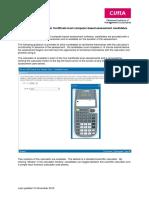 Certificate Level CBA Calculator Guidance November 2012