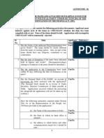 Annexure a Checklist