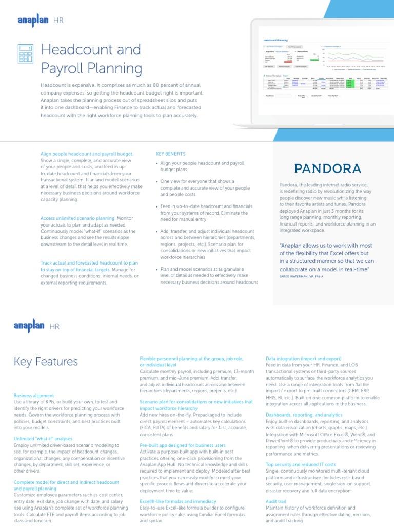 Head Count Payroll   Cloud Computing   Computing