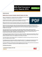 Middle East Insurance Industry Awards Salutes the Stars