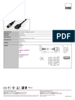 USB Interface Cable Data Sheet