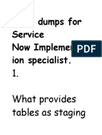 Implementation Dumps for Service Now