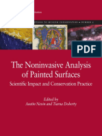 The noninvasive analysis of painted surface