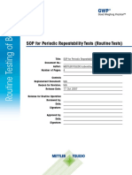 1 SOP for Periodic Repeatability Tests (Routine Tests)