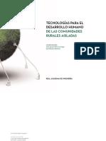 Tecnologías para el Desarrollo Humano de las Comunidades Rurales Aisladas