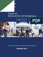 Taller de resolucion de problemas Ejercicios2017