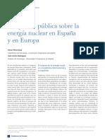 La opinión pública sobre la energía nuclear en España y en Europa