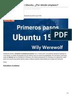 Ubunlog.com-Primeros Pasos Con Ubuntu Por Dónde Empiezo