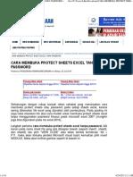 Cara Membuka Protect File Excel