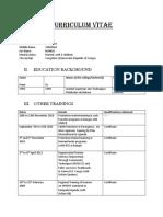 CV Program Coordinator Nigeria