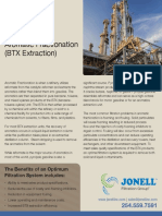 Filtration Applications in Aromatic Fractionation (BTX Extraction)