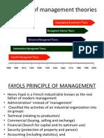 evolution of managment theories