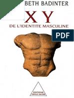 XY de l.identite Masculine - Badinter Elisabeth