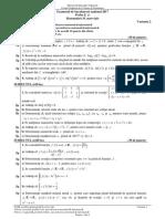 Subiecte Bacalaureat Matematică 2017