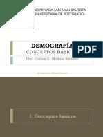 Demografía Conceptos Básicos Clase 1