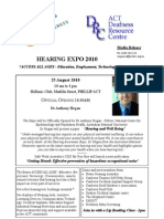 Hearing Expo 2010 Media Flyer