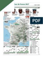 Tracé du Tour de France 2017