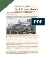 ProInversión dará en concesión siete proyectos en primer semestre del 2017.docx