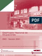 Cno 2001 Indec