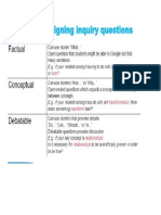 hints for designing inquiry questions