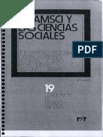 Gramsci y Las Ciencias Sociales
