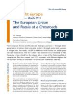The European Union and Russia at a Crossroads