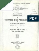 NATURE DES PROBLÈMES EN. PHILOSOPHIE (EntieUens d'été LUND 1947)
