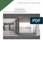 El Proyecto Moderno, Pautas de Investigacion