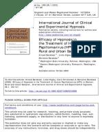 Barabasz-Efficacy Hypnosis Treatment Human Papillomavirus HPV Women