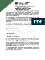 STUDENT JOB OPPORTUNITY - COMMUNITY DEVELOPMENT DEPARTMENT PART-TIME EXHIBIT RESEARCHER