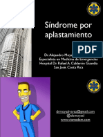 Síndrome Por Aplastamiento Dr. Alejandro Moya ASOCOME