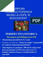 Purpura Trombocitopenica Imuna La Copil Si Adolescent