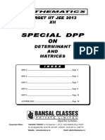 Dpp 1 to 5 on Determiant Matrices 12th Maths Eng
