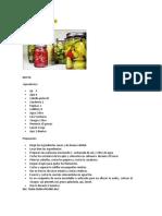 Elaboración de Pickles