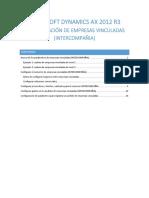 Configuración de Empresas Vinculadas en Microsoft Dynamics AX 2012