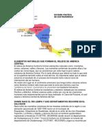 Elementos Naturales Que Forman El Relieve de América Central