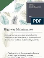 Road Maintance
