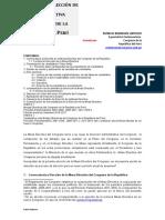 PROCESO DE ELECCIÓN DE LA MESA DIRECTIVA.