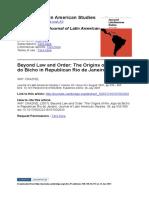 Amy Chazkel - The origins of the Jogo do Bicho.pdf