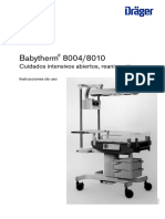 Dräger Babytherm 8004-8010 - User Manual (Es)