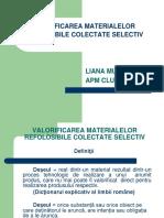 Valorificarea Materialelor Refolosibile Colectate Selectiv