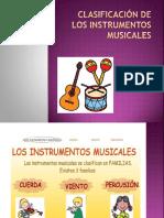 Clasificacion de Los Instrumenteos Musicales