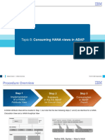 ABAP on HANA Course Material Consuming HANA Views Module 8A